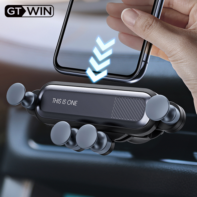 GTWIN Gravity Car Holder For Phone in Car Air Vent Clip Mount No Magnetic Mobile Phone Holder GPS Stand For iPhone Xiaomi Huawei-in Phone Holders & Stands from Cellphones & Telecommunications on