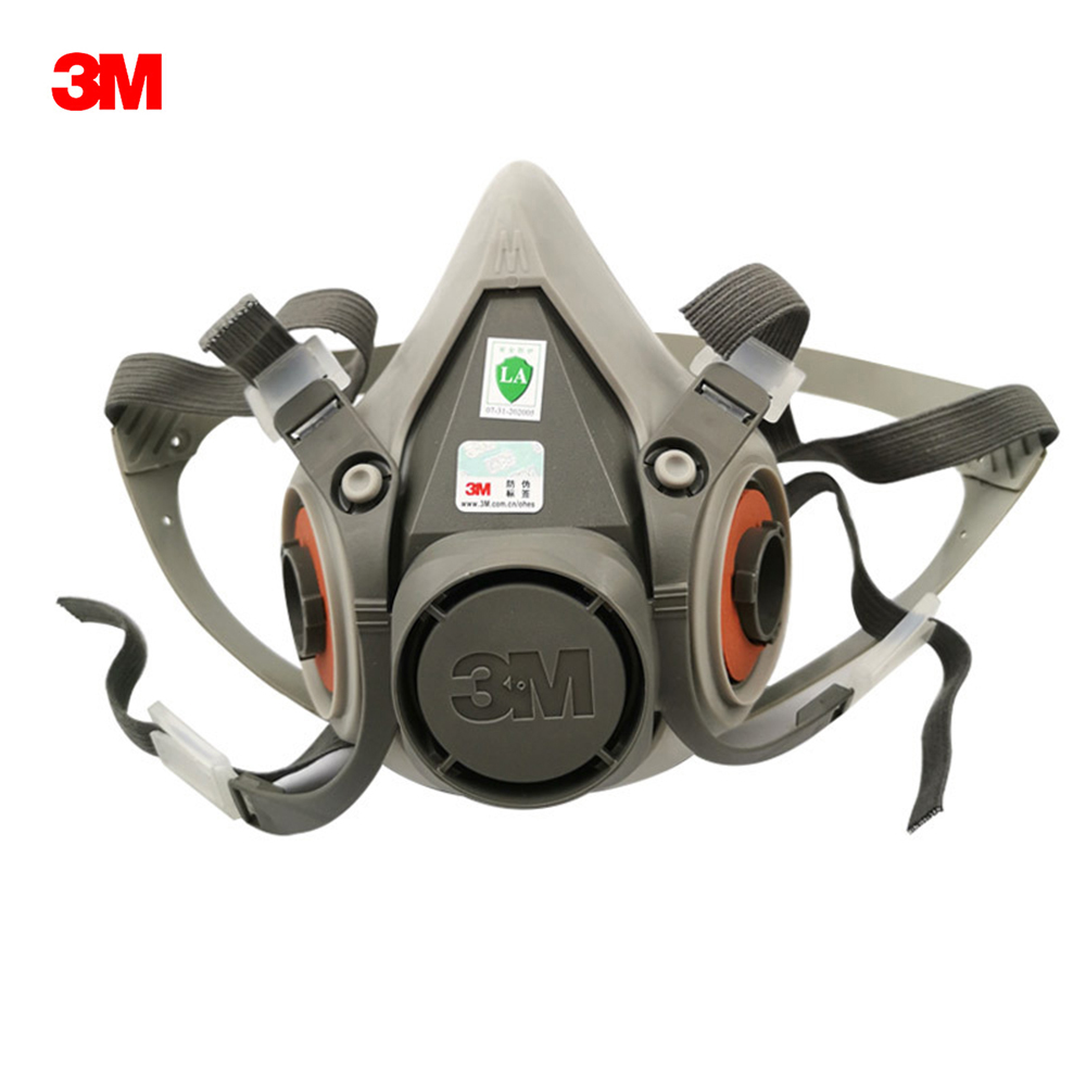 3M 6200 Half Face Gas Mask Respirator Organic Gas Protection Anti Haze Painting Spraying Industrial Dust-Proof Protect Dust Mask