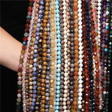 6 8 10 MM Diamonds Faceted Natural Agates Jaspers Stone Loose Spacers Beads for Jewelry Making DIY Charms Bracelet Necklace 15