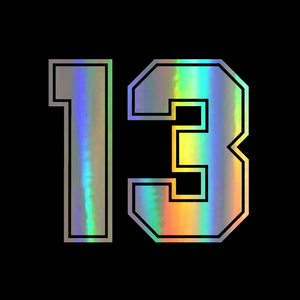 Three Ratels FTZ-154# 15x13.8cm 13 lucky racing number sticker funny auto stickers car styling wall window laptop