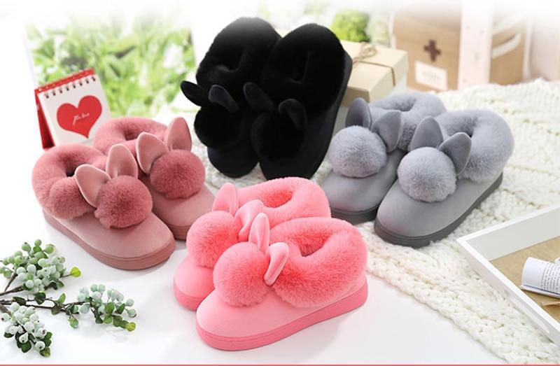 FIFY STORE Pantoufles Chaussons Chauds pour Femme