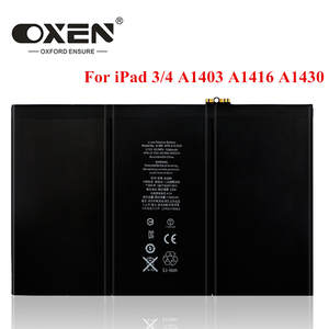 Tablet Battery A1430 A1416 iPad3 A1389 3-4-Replacement 11560mah OXEN for A1403/A1416/A1430/..