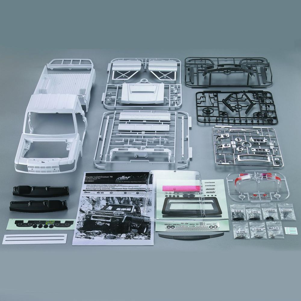 Killerbody Killerbody 1/10 Toyota Land Cruiser 70 Hard Body Kit Portable Size Exquisite Mechanical Work