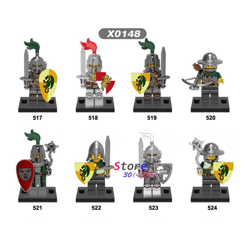 Single Medieval Knights Gladiatus Dragon Building Blocks Bricks Toy For Children Action Figures