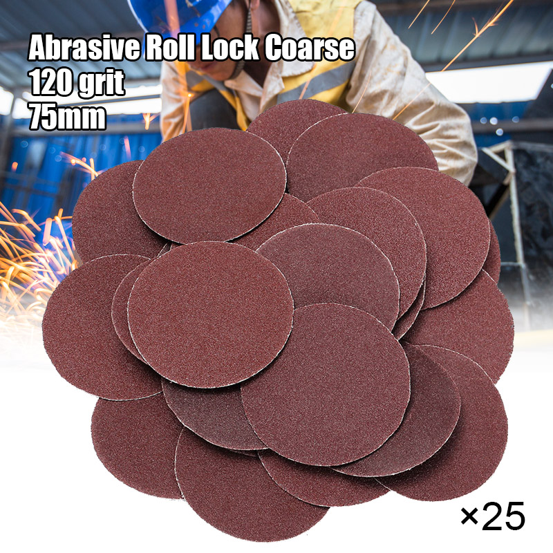 25pcs 120 Grit Sanding Disc R Type Discs Abrasive Roloc Disc Polishing Tool For Surface VJ-Drop