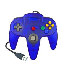 Controle para jogos nintendo n64, joystick para pc e computador