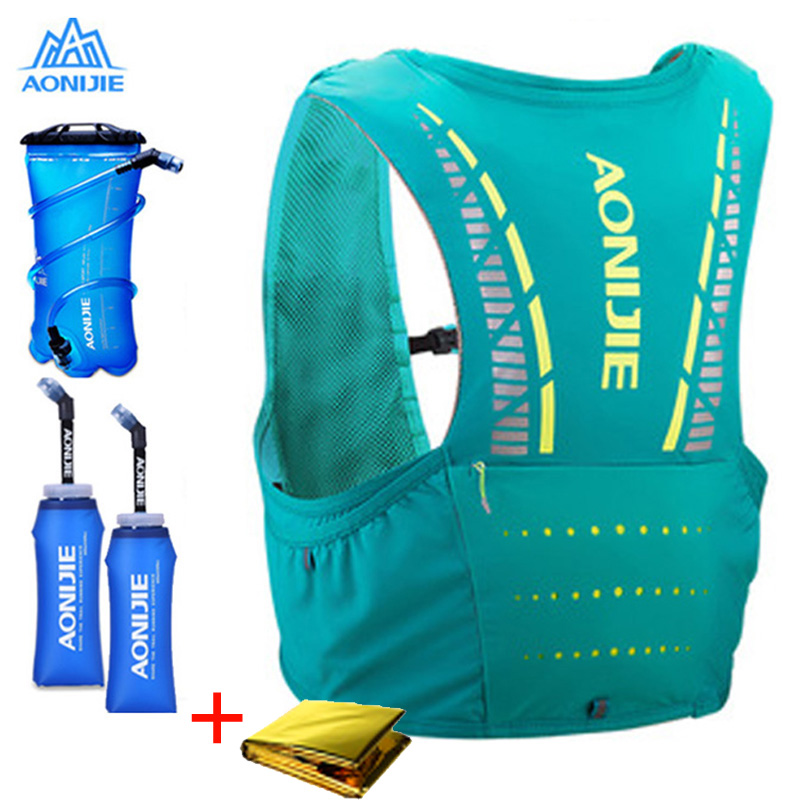 AONIJIE 5L Paquete de hidratación mochila chaleco arnés de agua vejiga senderismo Camping carrera de maratón escalada C933-in Bolsos para correr from Deportes y entretenimiento on AliExpress - 11.11_Double 11_Singles' Day 1