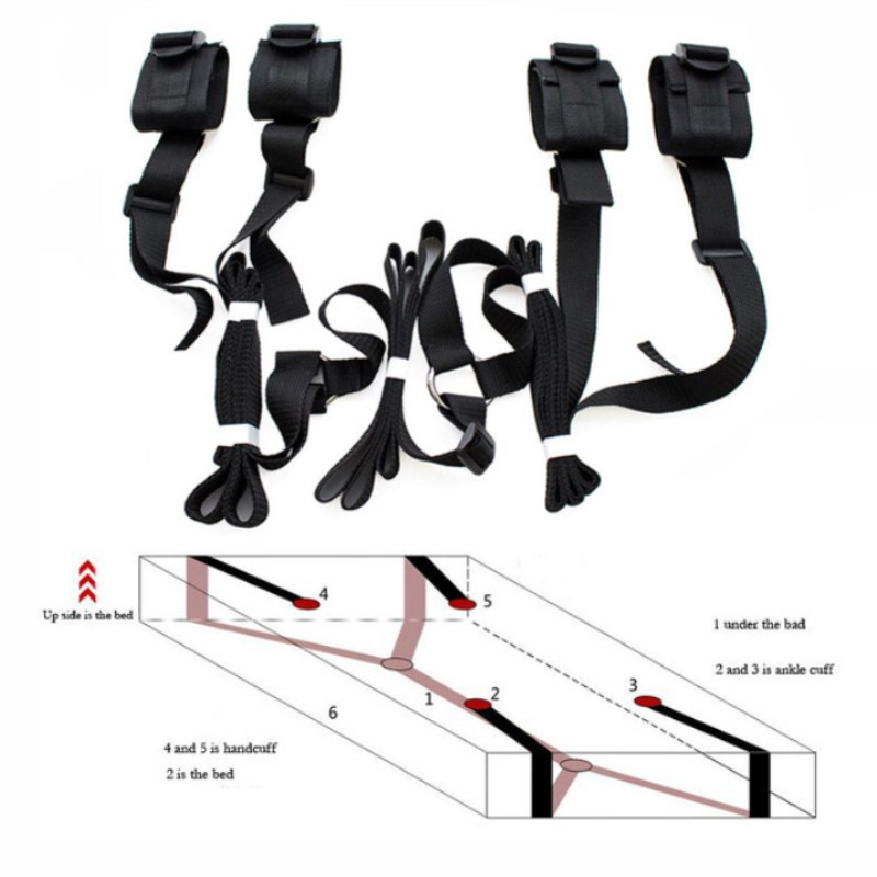 Erotic Under Bed BDSM Bondage Restraint Handcuffs For Sex Strap Adult Sex Toys For Woman Couples Men Games Wrists & Ankle Cuffs