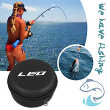 Fly Raft Fishing Reel Storage Bag Carry Protective Pouch Round Shaped Reels for LEO Outdoor Fishing Portable Accessories