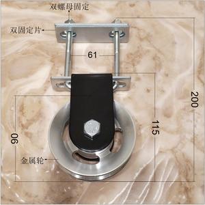 Фитнес-шкив кабельная система для квадратной металлической трубки DIY загрузка подъемная веревка для Трицепсов аксессуары для машины кабел...