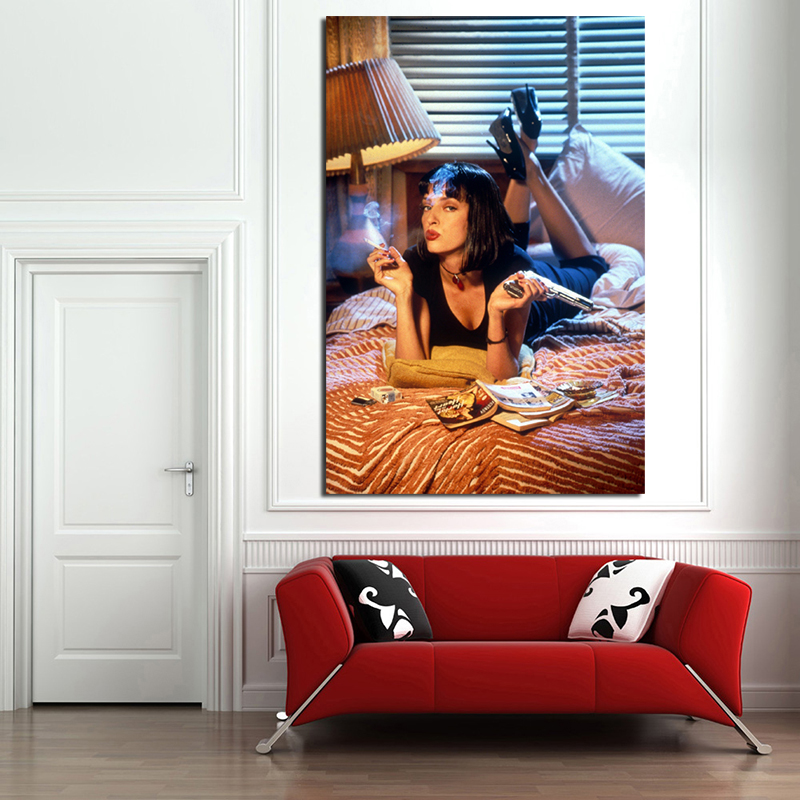 PULP FICTION UMA CANVAS PICTURE PRINT WALL ART HOME DECOR FREE DELIVERY