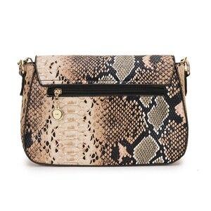 Image 4 - Bolso cruzado con estampado de serpiente para mujer, bandolera femenina de plata 2020, pequeño bolso de mano de cuero PU, cruzado Vintage