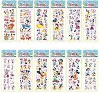 NEW 18 sheets/lot 3D Puffy Bubble Stickers Cartoon  Mickey Mouse vinyl Children Pet Kids Stickers Toys Bubble Stickers Teache