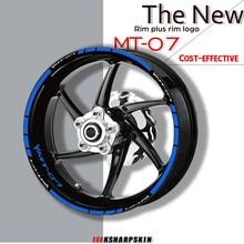 Motorcycle personality wheel reflective sticker rim stripe kit tire waterproof  moto decorative decal for YAMAHA MT 07 MT07 mt07