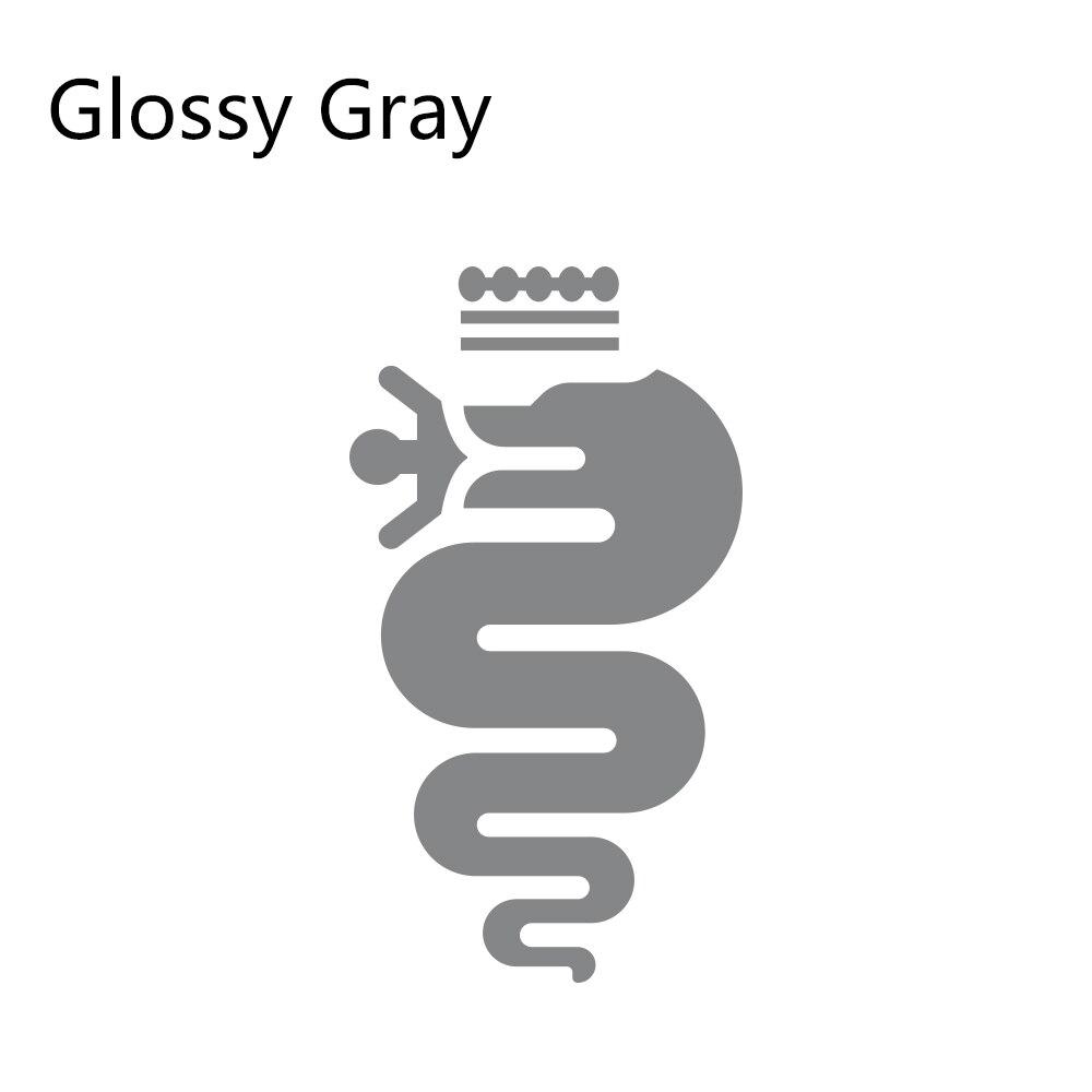 Накладка на капот автомобиля наклейки сделай сам Автомобильная виниловая пленка наклейки для Alfa Romeo Giulia Giulietta 147 156 159 166 автомобильные принадлежности для тюнинга - Название цвета: Glossy Gray