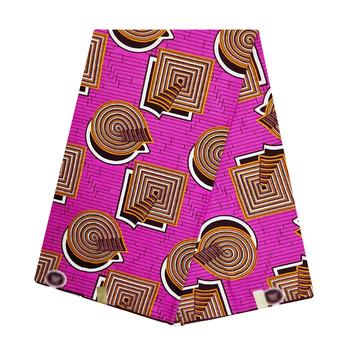 Prawdziwy gwarantowany prawdziwy wosk wysokiej jakości 100 bawełna Pagne afrykańska woskowana tkanina tkanina Ankara najnowsza sukienka Batik New Holland tanie i dobre opinie Daily