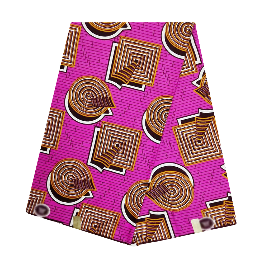 Veritable Guaranteed Real Wax High Quality 100% Cotton Pagne African Wax Ankara Fabric Latest For Dress Batik New Holland