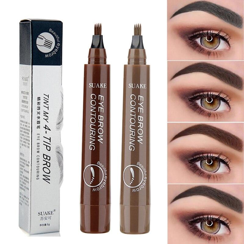 Водонепроницаемый натуральный карандаш для бровей, коричневый/черных кругов под глазами для бровей оттенок карандаш для бровей, Длительно...