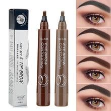 Waterproof Natural Eyebrow Pencil Eyebrow Pen Brown / Black Eye Brow Tint Eyebrow Pen Long Lasting Beauty Eye Makeup Tools