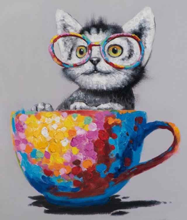 חתול יהלומי רקמת מלא כיכר 5d diy daimond ציור תפאורה יהלומי dotz תמונה חיות דיאמנט צבע שמן על ידי מספרי מתנה