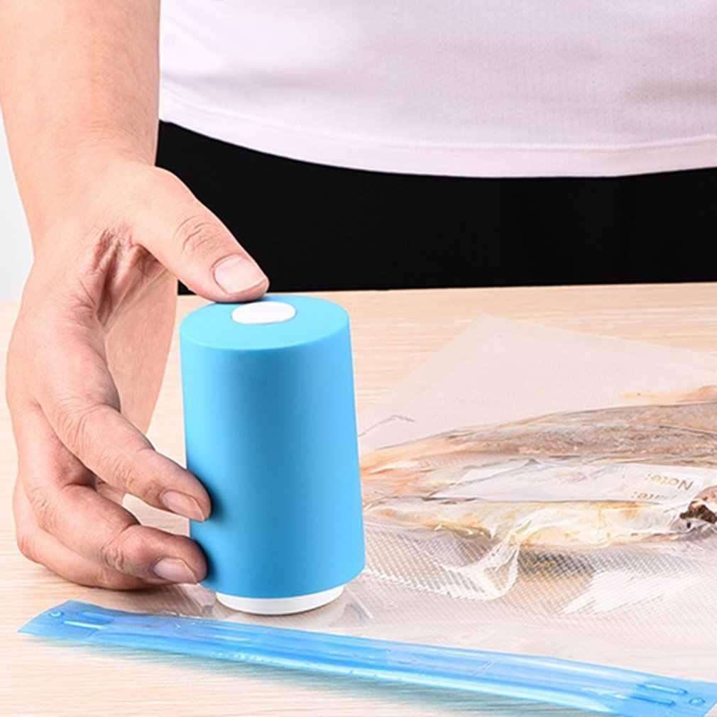 Tamanho portátil handheld uso doméstico alimentos saver plástico máquina de embalagem a vácuo elétrico aferidor do vácuo de alimentos ferramentas