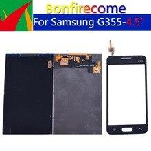 5 pçs qualidade original lcd para samsung galaxy core 2 SM G355H g355h g355 display lcd com tela de toque digitador do painel sensor