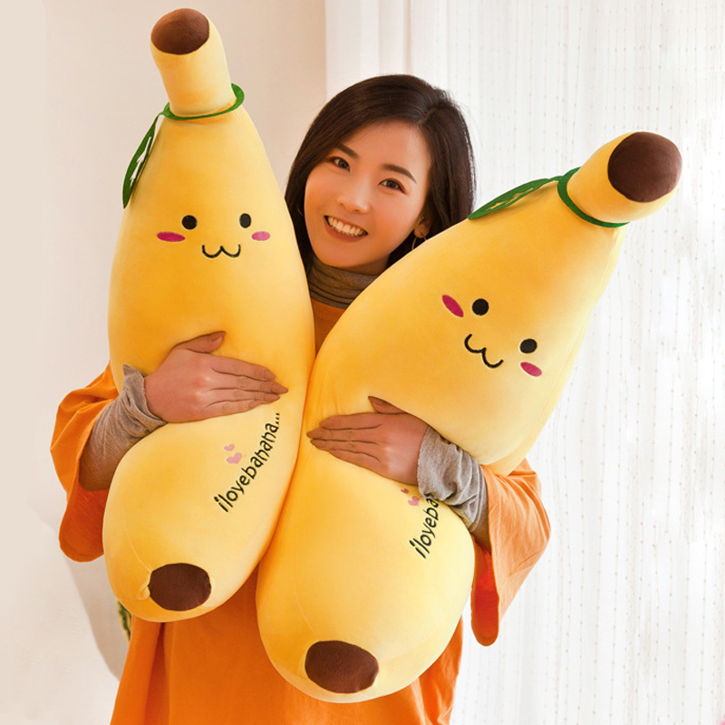 Funny Stuffed Plush Evil Banana Man Novelty Toy Fruit Cute Soft Doll