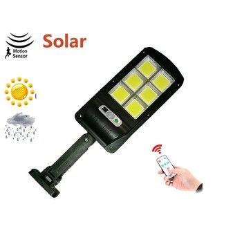solar light lamp floodlight reflector Outdoor Led Wall Street Garden Security PIR Motion Sensor Powered Lampada Waterproof IP65