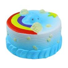11 см морской торт кремовый сжимающий игрушка мягкий медленно поднимающийся декомпрессионные сжимаемые игрушки PU Океанский торт дети ролевые игры игрушки
