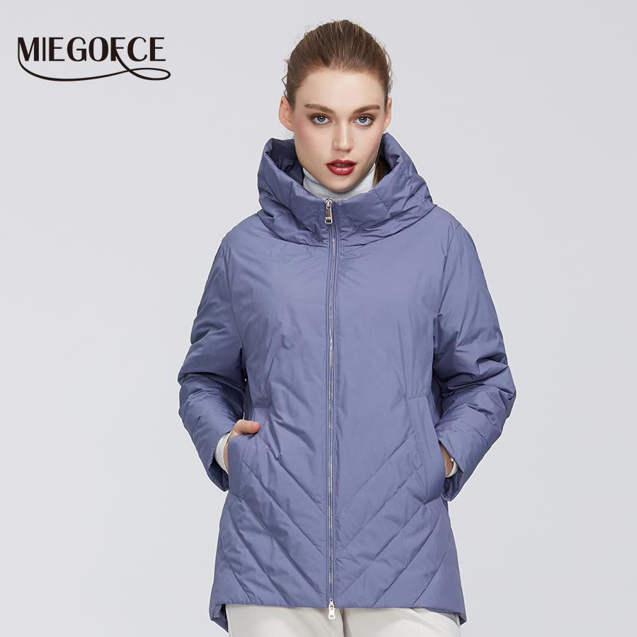 MIEGOFCE 2020 New Collection Women's Cotton Windproof Warm Spring  Resistant Hooded Collar Stylish And High-quality Firmware