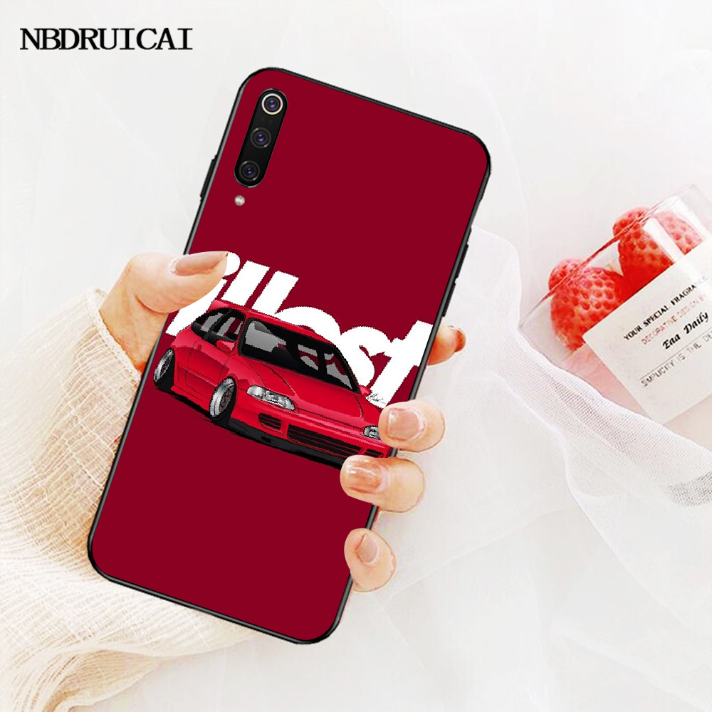 NBDRUICAI Kühlen Japan JDM Sport Auto Comic TPU schwarz Telefon Fall Abdeckung Hull für Xiaomi Mi9 9SE 8SE Pocophone F1 mi8 Lite