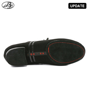 Image 4 - Chaussures de danse Standard pour hommes, chaussures de salle de bal en toile, nappée, semelle extérieure fendue, pour compétition pratique, chaussures de danse modernes