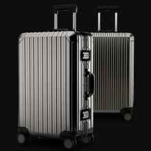 Новая мода, алюминиевый сплав, чемодан на колёсиках, Спиннер, чемоданы, колеса 20 дюймов, мужская деловая сумка для переноски на колесиках, дорожная сумка