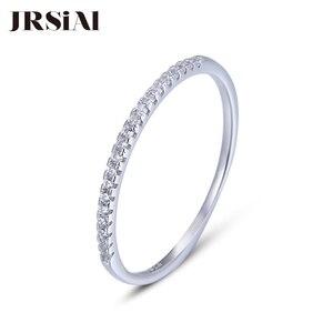 Image 1 - JRSIAL кольцо из стерлингового серебра 925 пробы с цирконием корейское модное кольцо ультратонкое простое кольцо