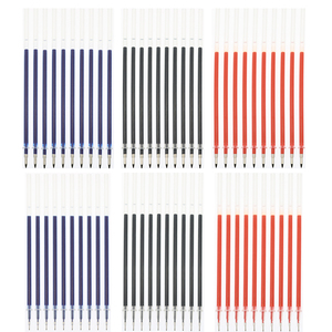 10pcs / Lot Neutral Ink Gel Ink Pen Spare Parts Good Quality Black Refill Blue Red 0.5mm (Needle Tube / Bullet Style) Office And(China)