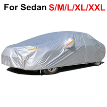 Car Cover Coat For Sedan Universals Rain Coats Waterproof Du