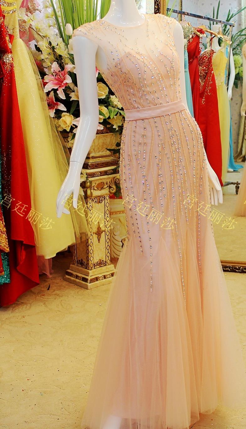 2018 Vestido De Noiva Longo Luxury Crystal Formal Brides Sexy Evening Party Prom Gowns Long Mermaid Mother Of The Bride Dresses
