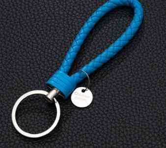 33 สี PU หนังถักเชือก bts พวงกุญแจ DIY กระเป๋าจี้ Key Chain ผู้ถือ Keyrings ผู้ชายผู้หญิงพวงกุญแจ