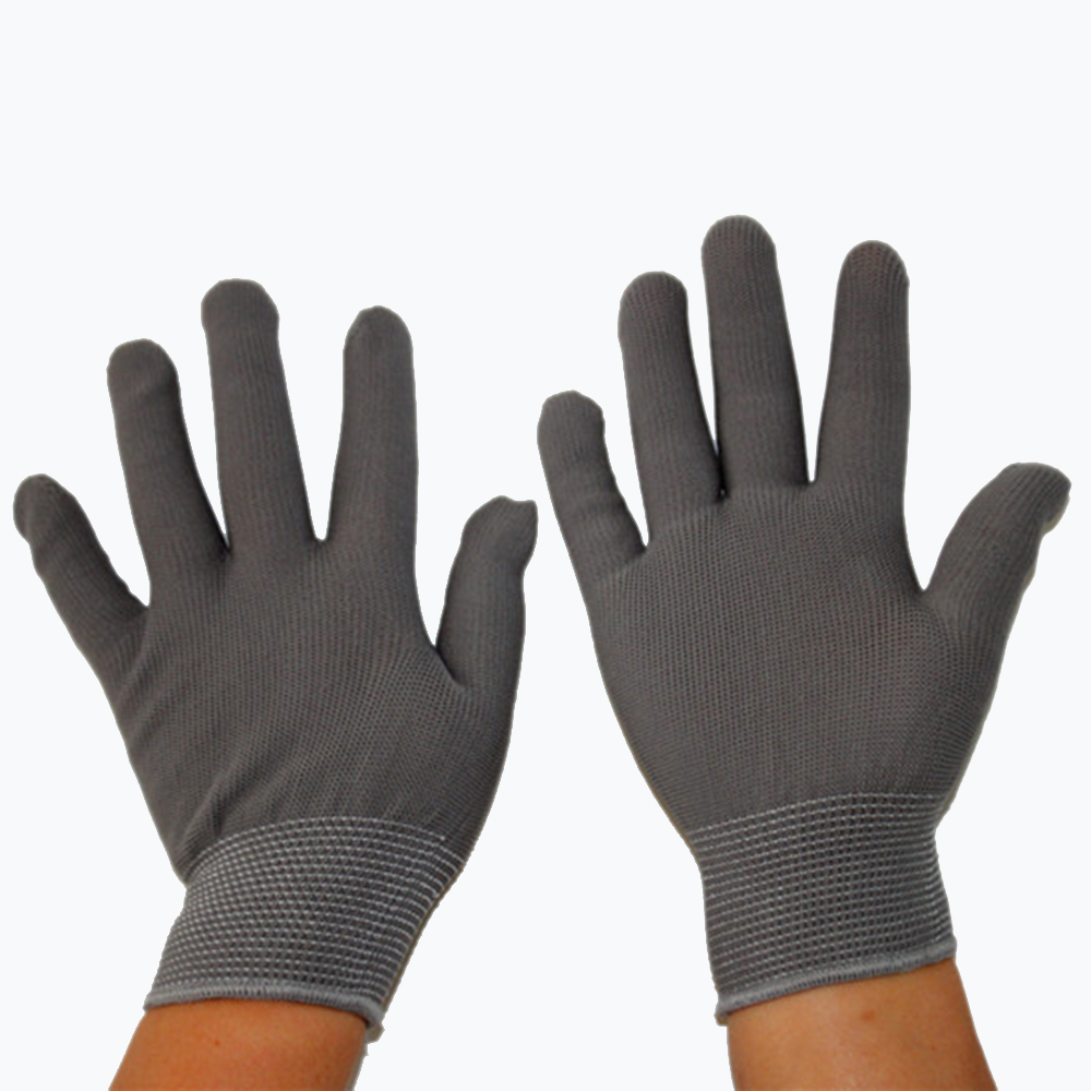 1pair Pu Palm Antistatic Gloves Electronic Working Anti Static ESD Gloves Coated Finger PC Non-slip Finger Antiskid