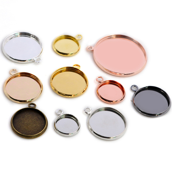 8 10 12 14 16 18 20 25 mm Round Cabochon Base Tray Bezels Blank Setting Supplies For Jewelry Making Findings Bracelet Pendant 5pcs lot 10 50mm cameo rectangle bezels blank pendant cabochon base setting for jewelry making accessories supplies