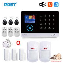 PGST PG103 Tuya Alarm System With Pet Immune Motion Sensor IP Camera WiFi Wireless Smart Home Bulgar Security APP Control