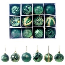12PCS 60mm Christmas Xmas Tree Ornament Bauble Hanging Decoration Ball Home Party