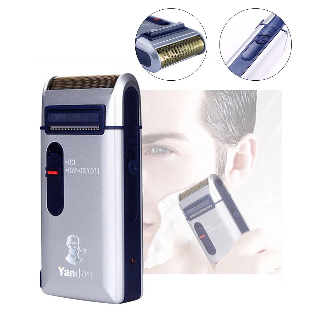 Hot Portable Travel Reciprocating Shaver Electric Men Rechargeable Razor Trimmer