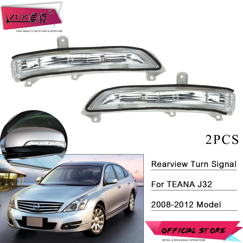 ZUK 2PCS Rearview Mirror Turn Signal LED Blinker Lamp For Nissan TEANA J32 2008 2009 2010 2011 2012 2013 Wing Mirror Indicator image