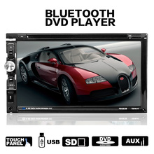 цена на Car Radio HD 7 Touch Screen Stereo Bluetooth 12V 2 Din FM ISO Power Aux Input Auto MP5 Player SD USB DVD Player
