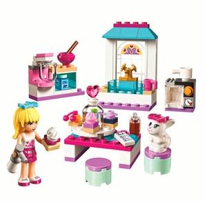 Image 4 - 10542女友達シリーズ休暇水泳プールフィギュアブロック建設レンガのおもちゃ