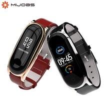 Mi Band 5 Strap für Xiaomi Mi Band 4 Armband Aus Echtem Leder Armband für Xiao Mi Miband 3 NFC Zubehör miband 5 Handgelenk Gurt