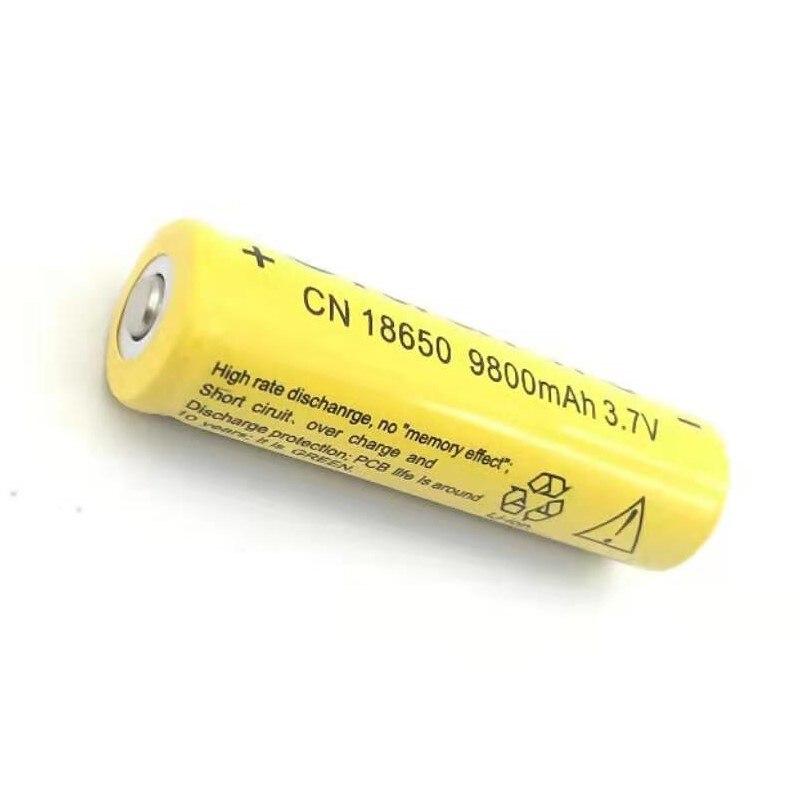 1PCS  3.7V 18650 Battery Lithium 9800mAh Rechargeable Li-ion Bateria For Flashlight