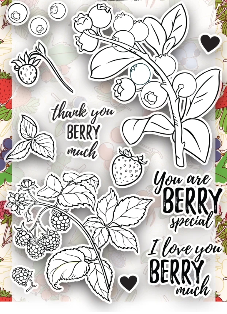 Berry Transparent Clear Silicone Stamp/Seal For DIY Scrapbooking/photo Album Decorative Clear Stamp A6029