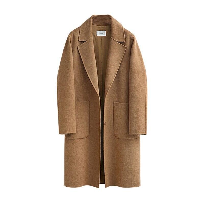 2019 laine Trench Coat Feminino bureau dames décontracté Vintage grande taille 100KG 5XL femmes Long Trench manteaux automne pardessus